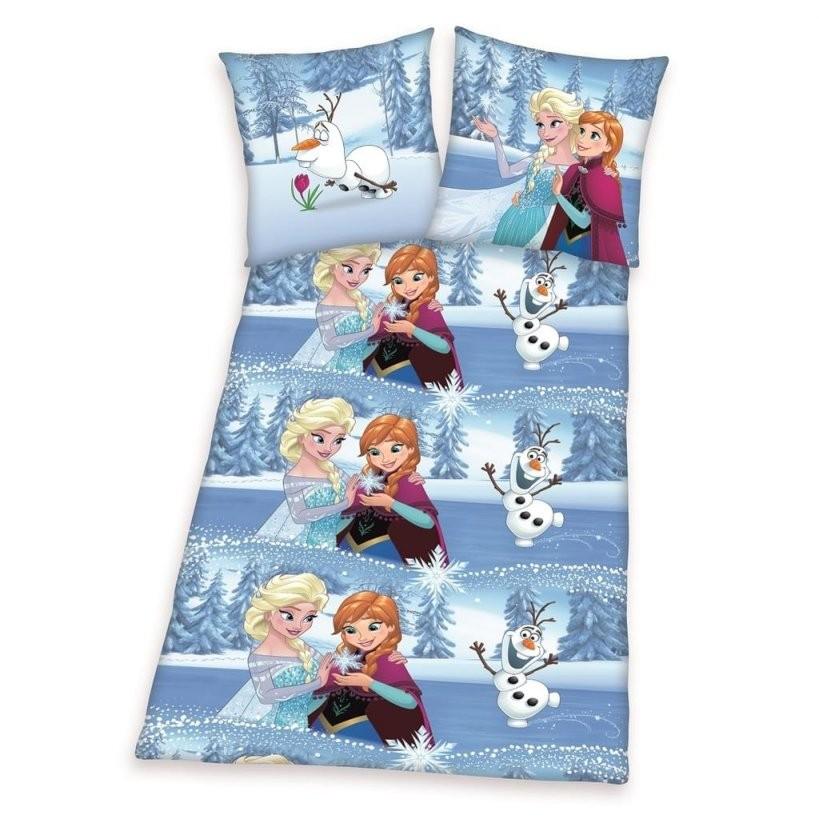 Herding 4680067050 Bettwäsche Disney's Eiskönigin Ko  Real von Anna Und Elsa Bettwäsche Biber Bild