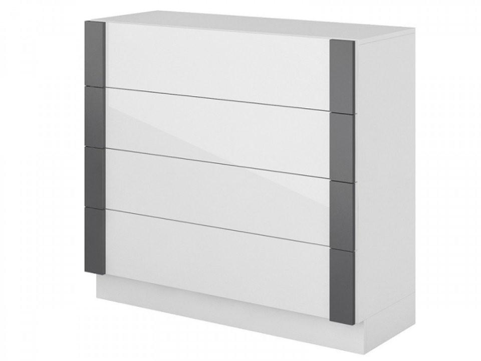 Herrlich Kommode Weiß Hochglanz Schubladen Sideboard 2 45737 von Kommode Weiß Hochglanz Schubladen Bild