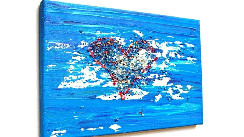 Herz Acryl Malen Für Anfänger (Heart Acrylic Painting For von Acrylbilder Selber Malen Für Anfänger Photo