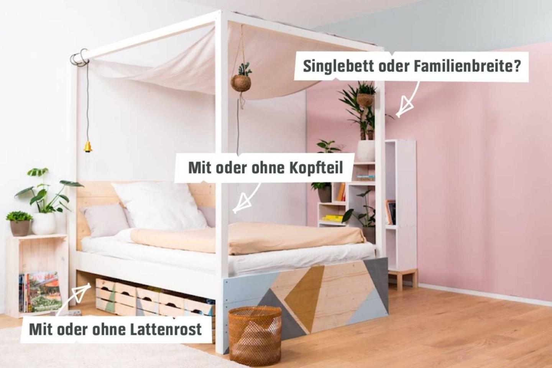 Himmelbett Frieda Selber Bauen  Betten  Obi Selbstbaumöbel von Himmelbett Vorhang Selber Machen Bild
