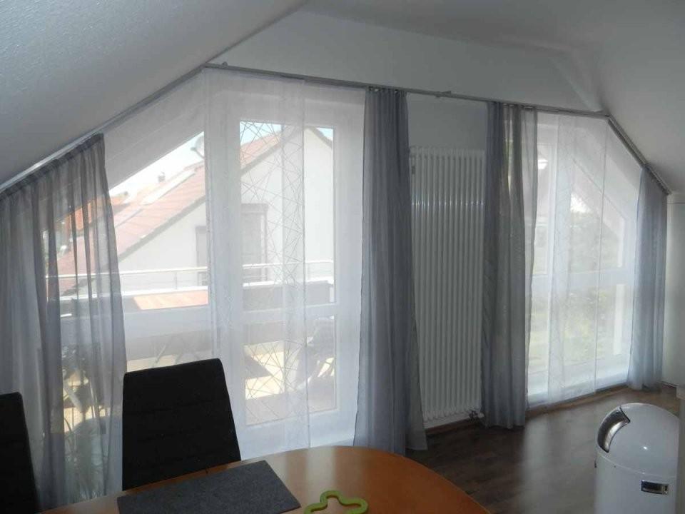 Hobbyhandwerkinserat Flächenvorhang Für Dachschräge Und Schräge von Gardinen Ideen Für Schräge Fenster Photo