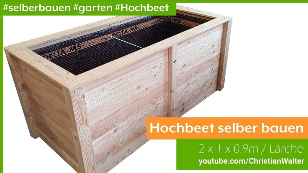 Hochbeet 2X1M Aus Holz Selber Bauen  Youtube von Hochbeet Selber Bauen Youtube Photo