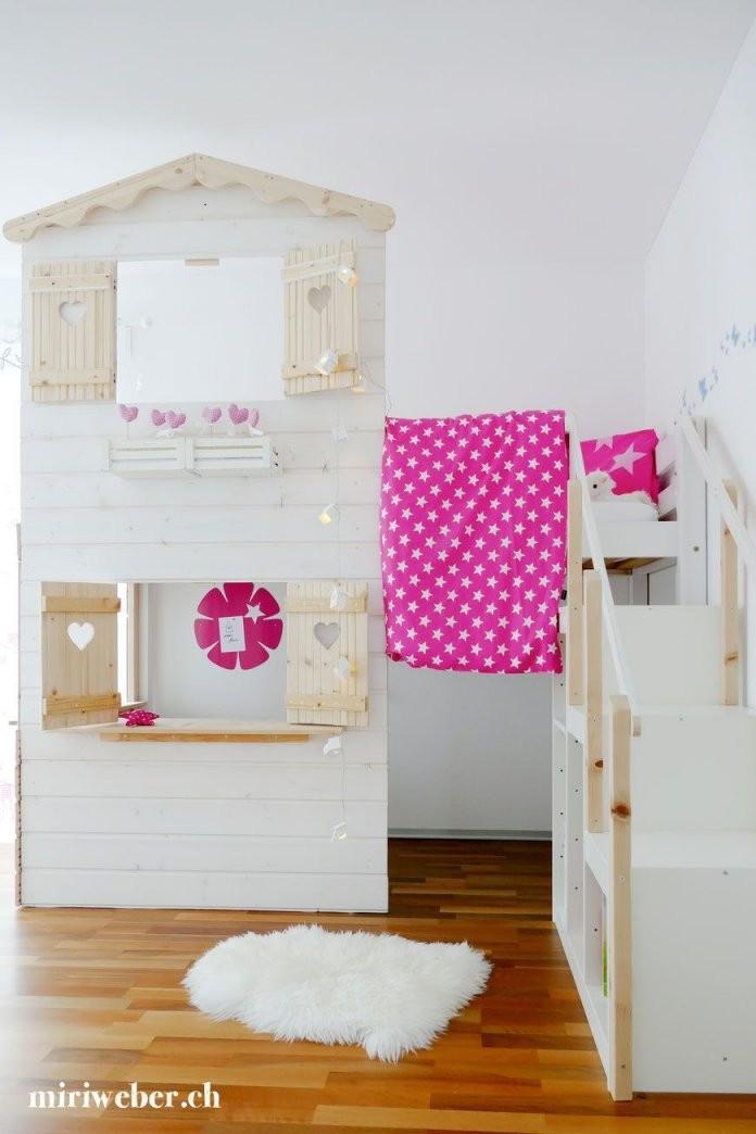 Hochbett Haus Hoch Bett Haus Selber Bauen Plan Anleitung Diy von Prinzessin Bett Selber Bauen Photo