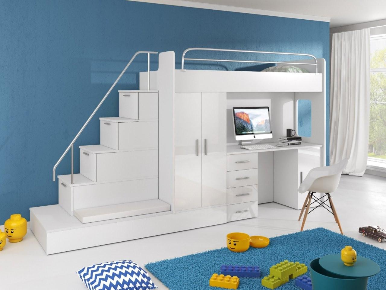 Hochbett Mit Treppe Sun  Furnistad von Treppe Für Hochbett Kaufen Bild