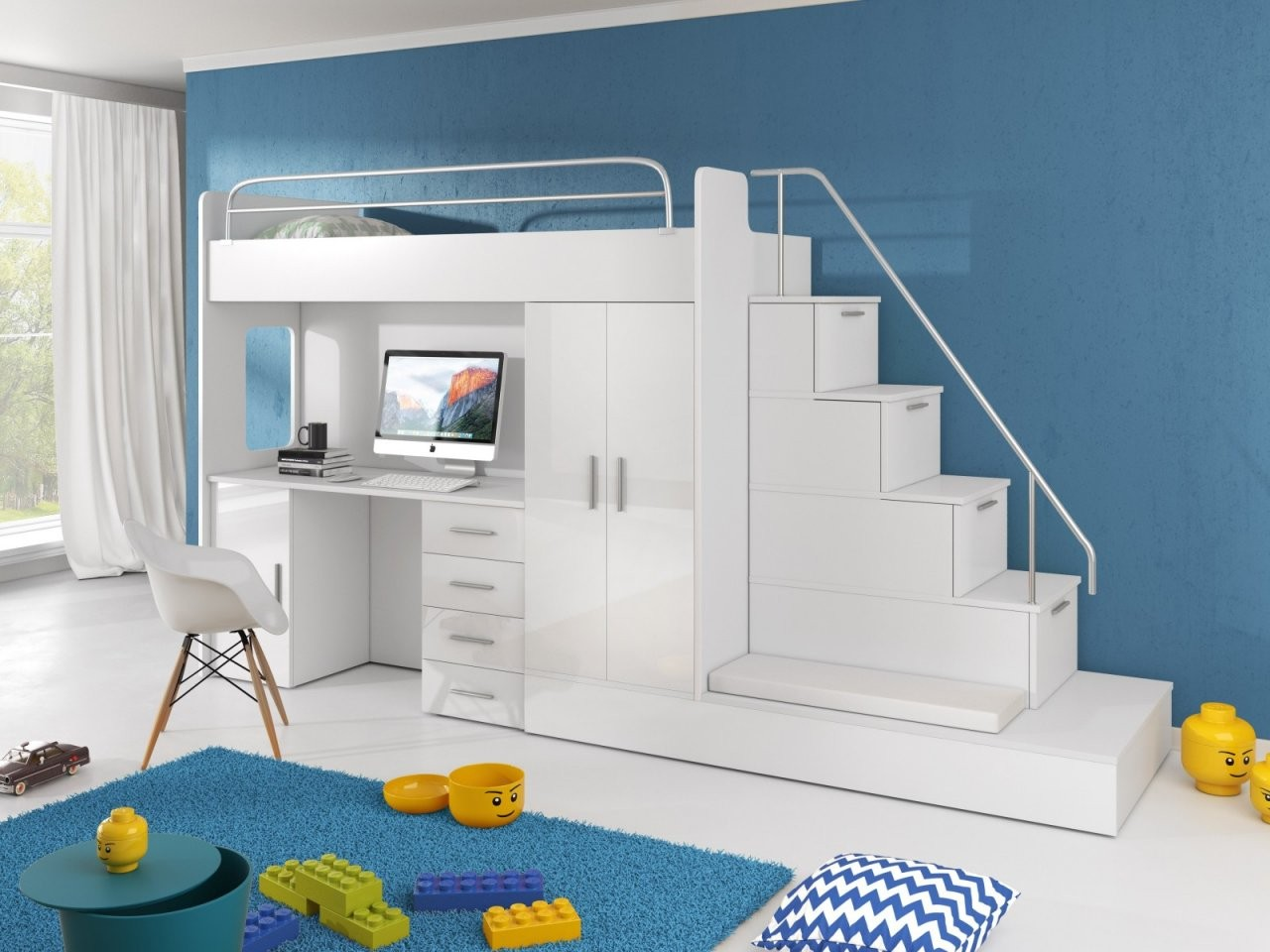 Hochbett Mit Treppe Sun  Furnistad von Treppe Für Hochbett Kaufen Photo