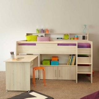 Hochbetten Mit Schreibtisch Und Weitere Hoch  Etagenbetten von Kinderbett Mit Schreibtisch Und Kleiderschrank Bild
