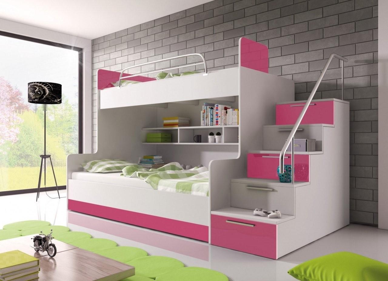 Hochglanz Etagenbett Doppelbett Alex  Möbel Für Dich Online Shop von Etagenbett Mit Stauraum Treppen Photo