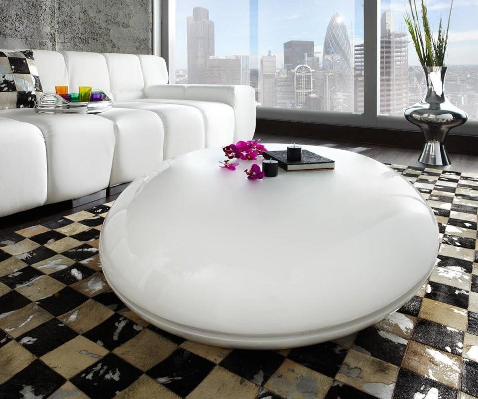 Hochglanzweisskunststoff Couchtische Online Kaufen  Möbel von Couchtisch Hochglanz Weiß Oval Photo