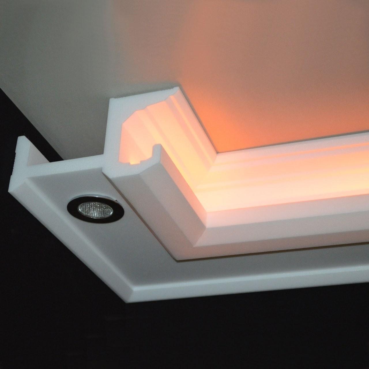 Hochwertige Stuckleisten Und Stuckprofile  Dekostuck24 von Stuck Mit Indirekter Beleuchtung Bild