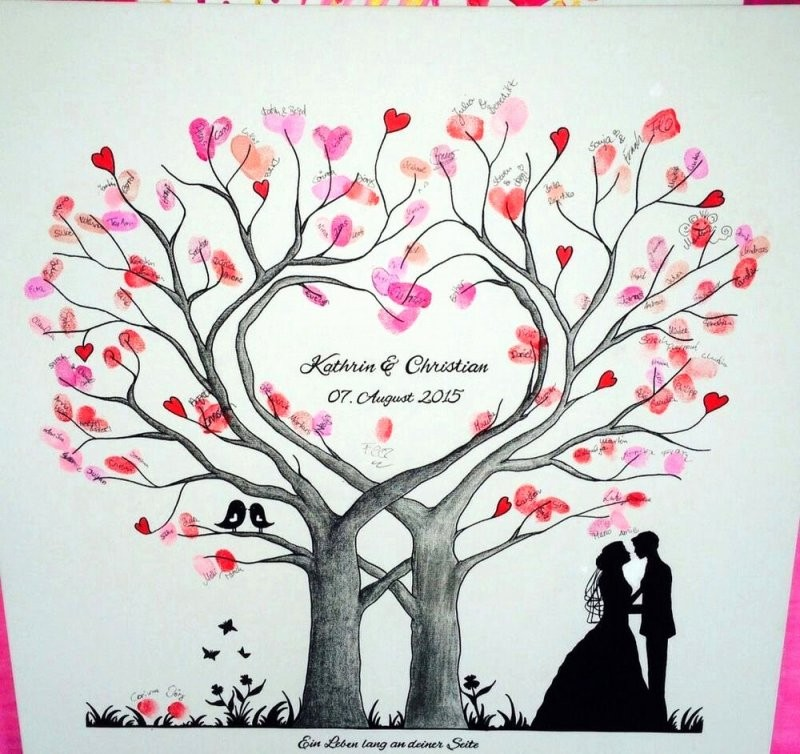 Hochzeit Fingerabdruck Baum Frisch Fingerabdruck Leinwand Selber von Bild Auf Leinwand Selber Machen Bild