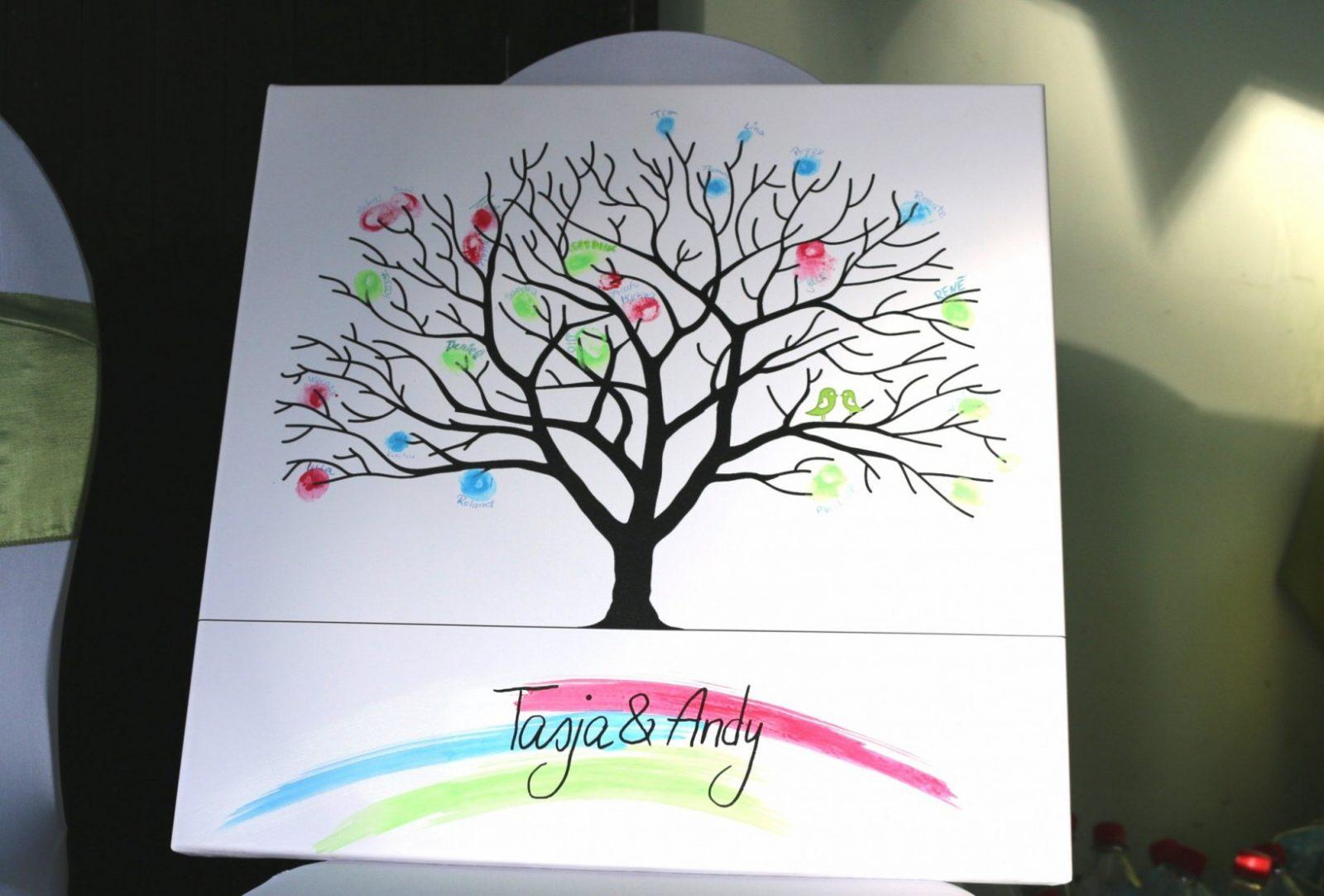 Hochzeitsbaum Auf Leinwand Selbst Gestalten von Keilrahmen Gestalten Vorlagen Ideen Bild
