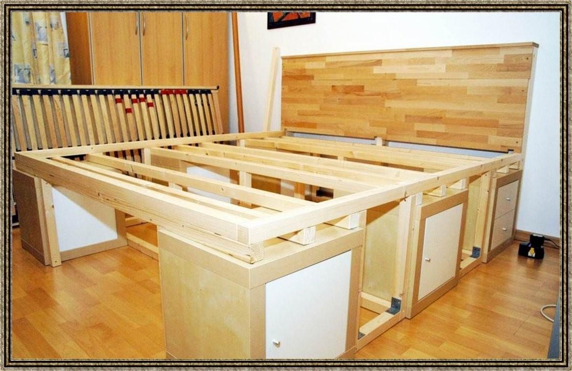 Hohes Bett Mit Stauraum Selber Bauen Bett Selbst Bauen Stauraum von Bett Bauen Mit Stauraum Bild