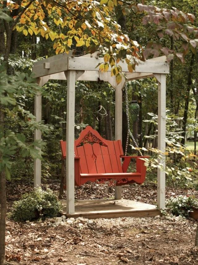 Hollywoodschaukel Aus Holz Selber Bauen  Anleitung von Gartenschaukel Selber Bauen Anleitung Bild
