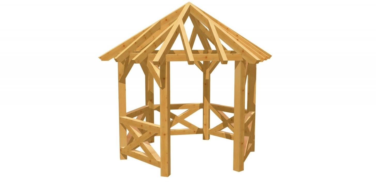 Holz 6Eck Pavillon Selber Bauen  Holzbauplan von Holz Pavillon 6 Eckig Photo