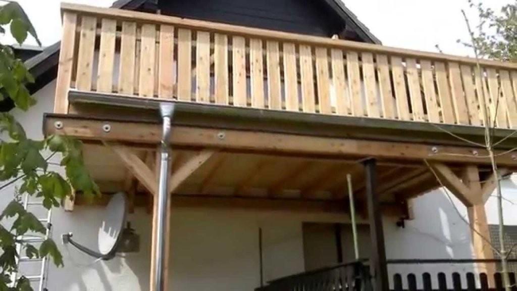 Holz Balkon  Balkongestaltung von Anbaubalkon Holz Selber Bauen Bild