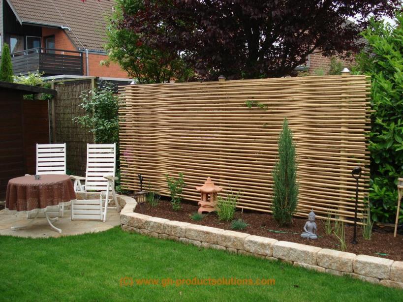 Holz Sichtschutz Zum Nachbarn – Bvrao Planen  Große Gartenideen von Sichtschutz Zum Nachbarn Ideen Bild