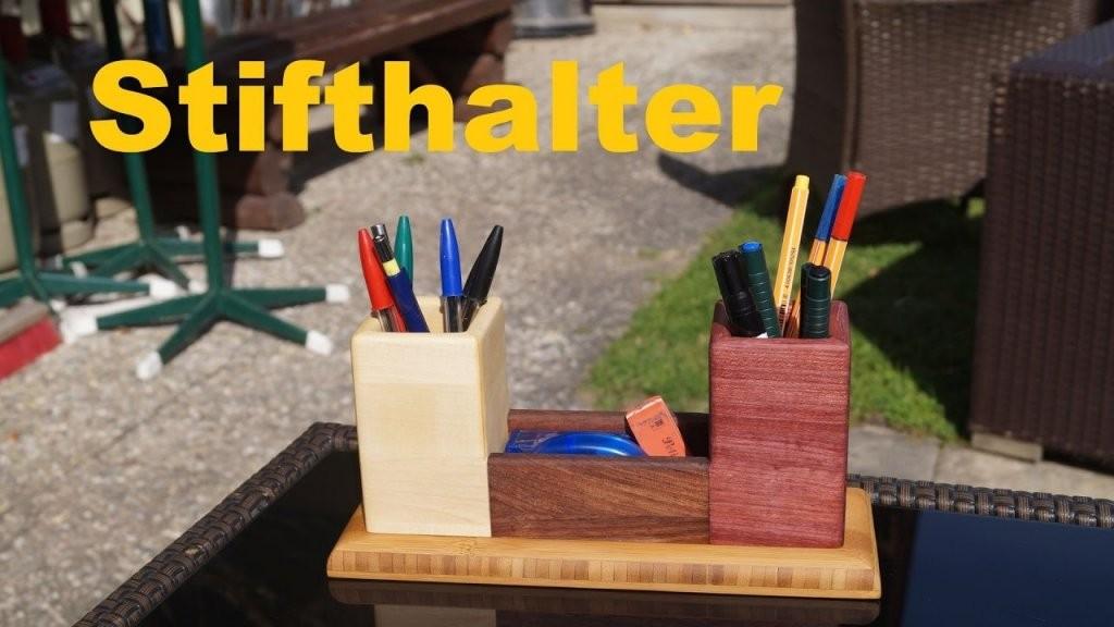 Holz Stifthalter Aus Vier Verschiedene Holzarten  Youtube von Stiftehalter Holz Selber Bauen Photo