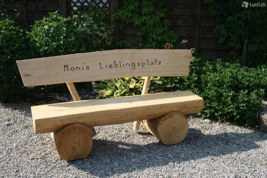 Holzbank In Thurgau Kaufen  Tuttich von Holzbank Mit Gravur Kaufen Bild