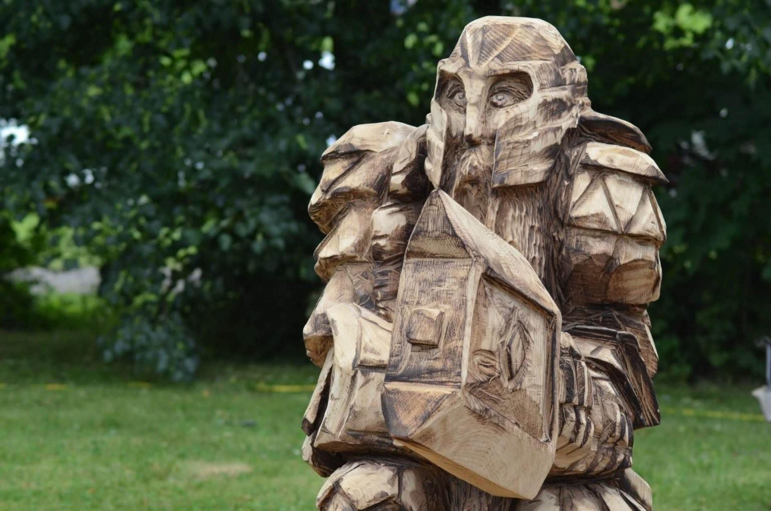 Holzfiguren Für Den Garten  Geschnitzte Skulpturen  Tiere von Holzfiguren Garten Selber Machen Bild