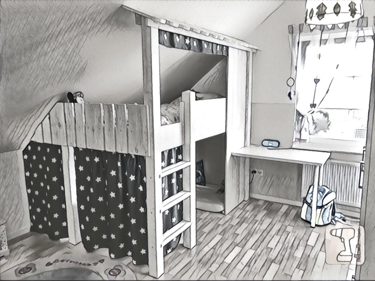 Holzwurmtom Videobaubericht  Ein Tolles Hochbett Für Kinder von Hochbett Für Kinder Selber Bauen Photo