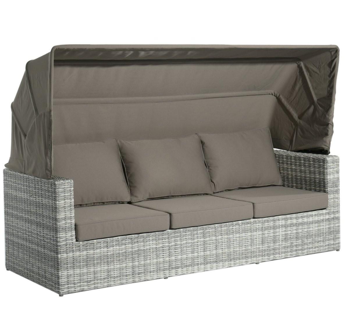 """Home Islands """"mizuki"""" 3Sitzer Sofa Inkl Sonnendach von Lounge Sofa Mit Dach Bild"""