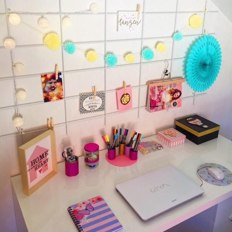 Home Office Einrichten  Büro Deko Selber Machen von Schreibtisch Deko Selber Machen Photo