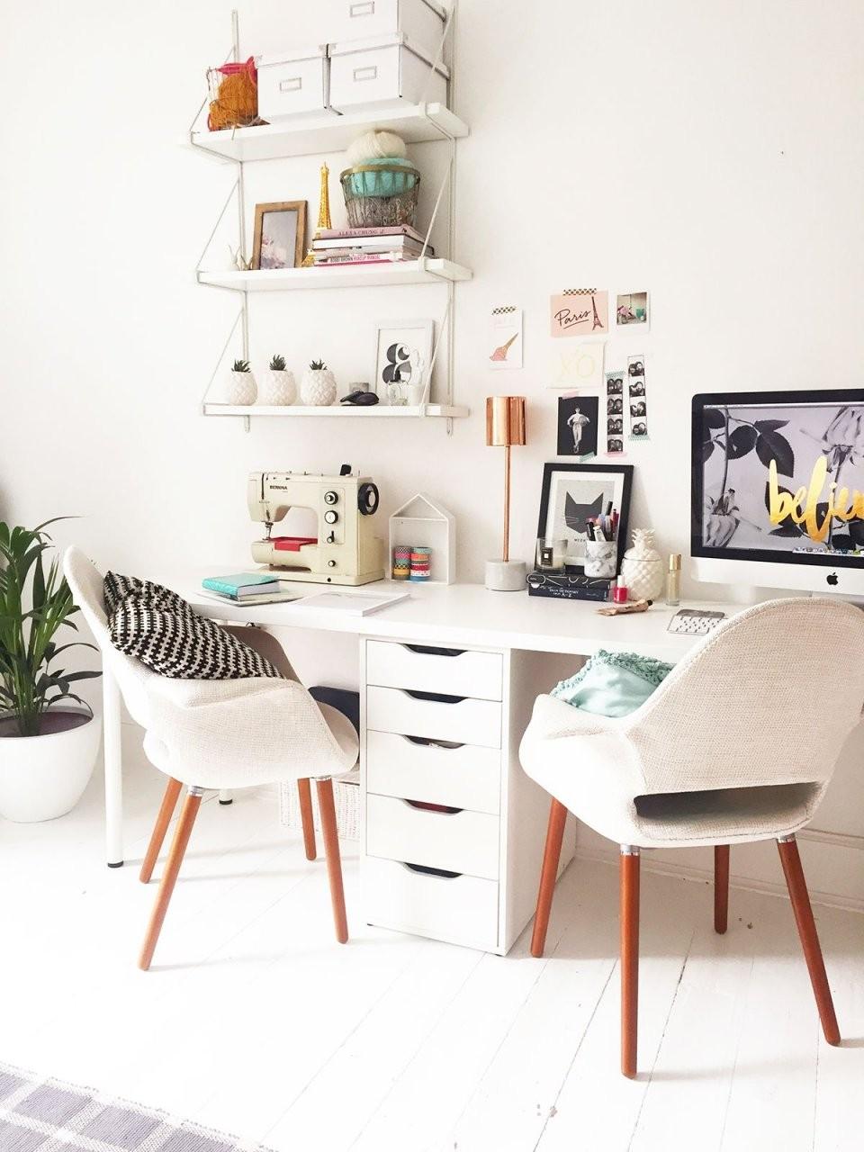Home Office Inspiration  Arbeitszimmer  Zuhause Dekoration von Büro Ideen Für Zuhause Bild