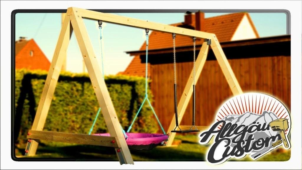 How To Build A Swing  Children's Swing  Solid Kvh Swing von Gartenschaukel Selber Bauen Anleitung Bild