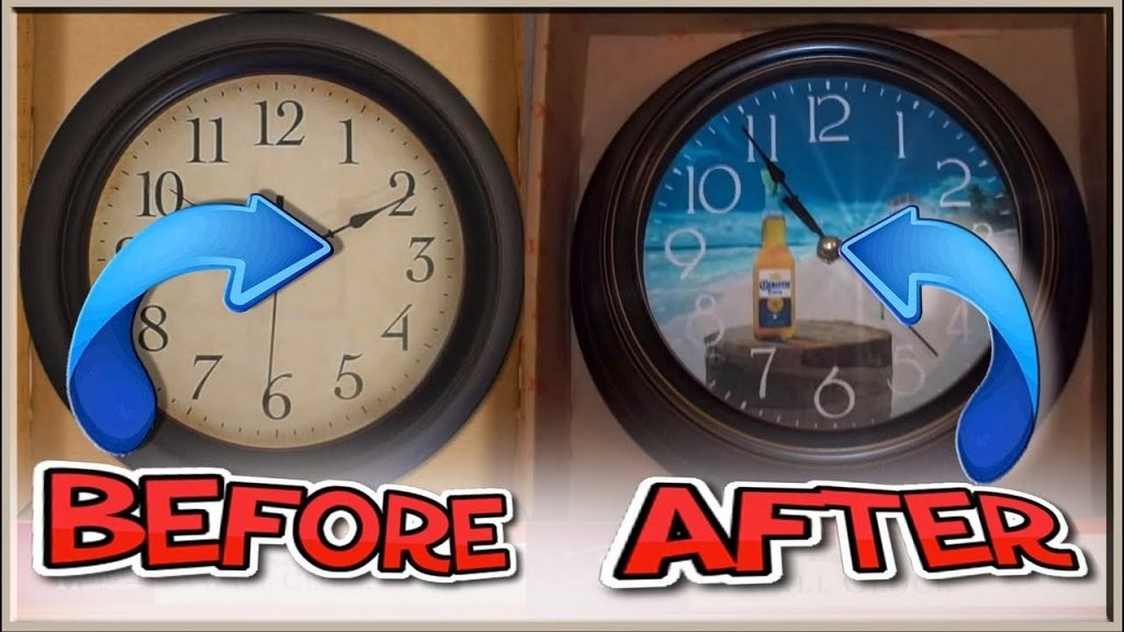How To Make Your Own Custom Wall Clock  Youtube von Make Your Own Clock Bild
