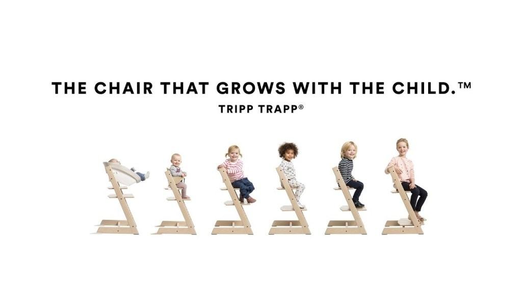 How To Use The Tripp Trapp High Chair From Stokke Youtube Trip Trap von Stokke Tripp Trapp Buche Bild