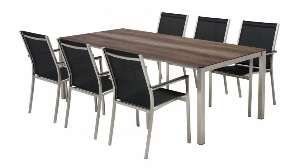 Hpl Gartentischset Maximdamai 220 Fix Inkl 6 Stühlen von Gartentisch Mit 6 Stühlen Bild