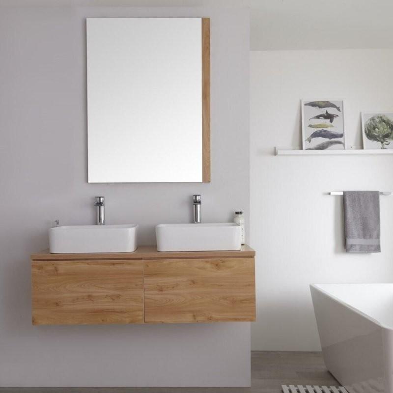 Hudson Reed Newington  Doppelaufsatzwaschbecken Mit Unterschrank von Waschbecken Aufsatz Mit Unterschrank Bild