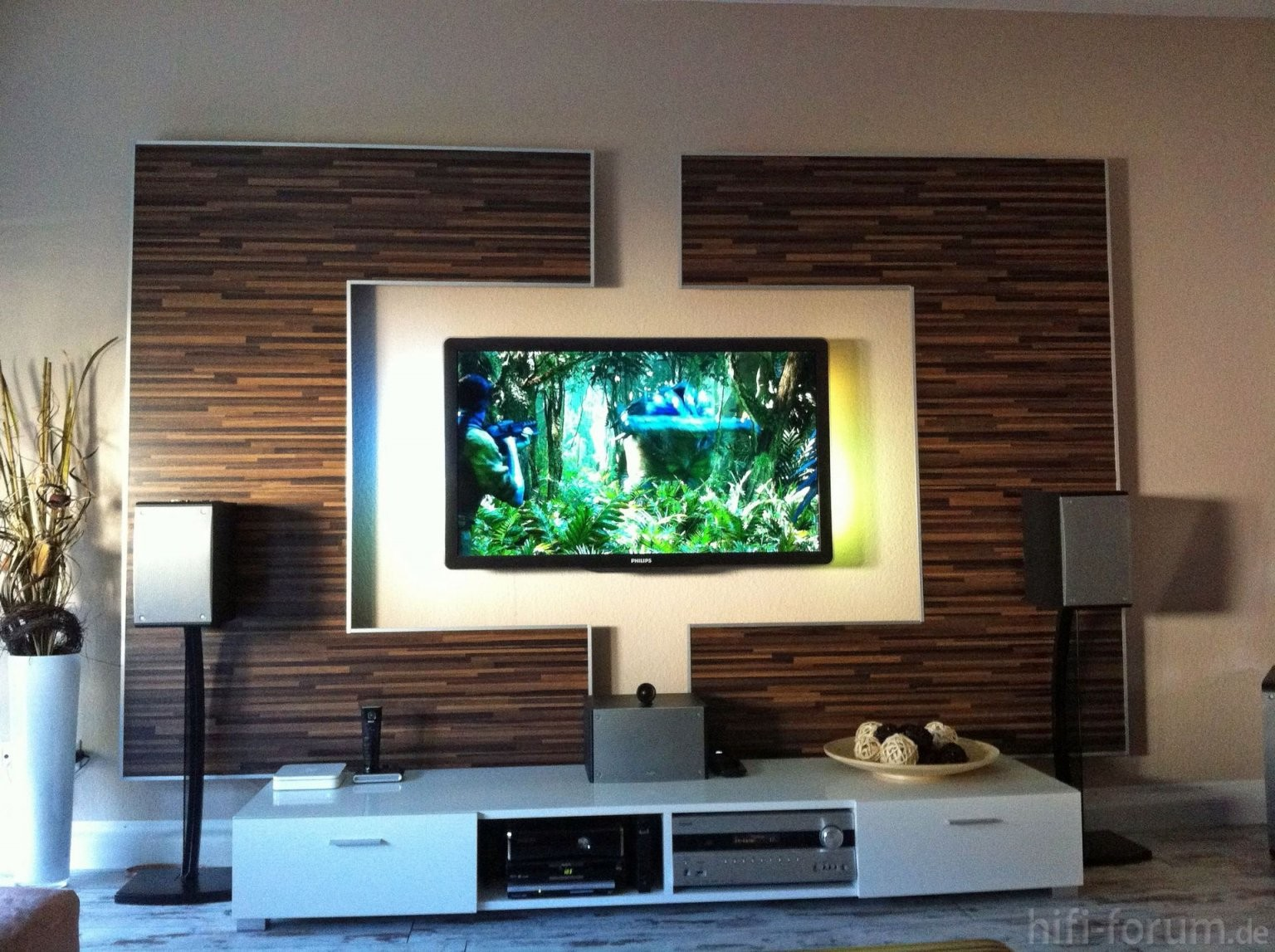Ich Habe Hier Mal Ein Paar Bilder Meiner Heimkinowand Hab von Tv Wand Selber Bauen Laminat Bild