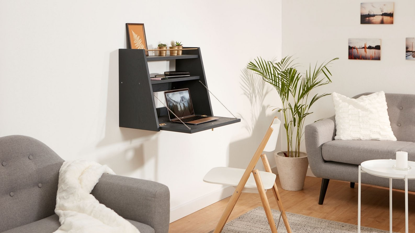 Ideal Für Kleine Räume Der Klappbare Schreibtisch Für Die Wand von Kleine Schreibtische Für Wenig Platz Bild