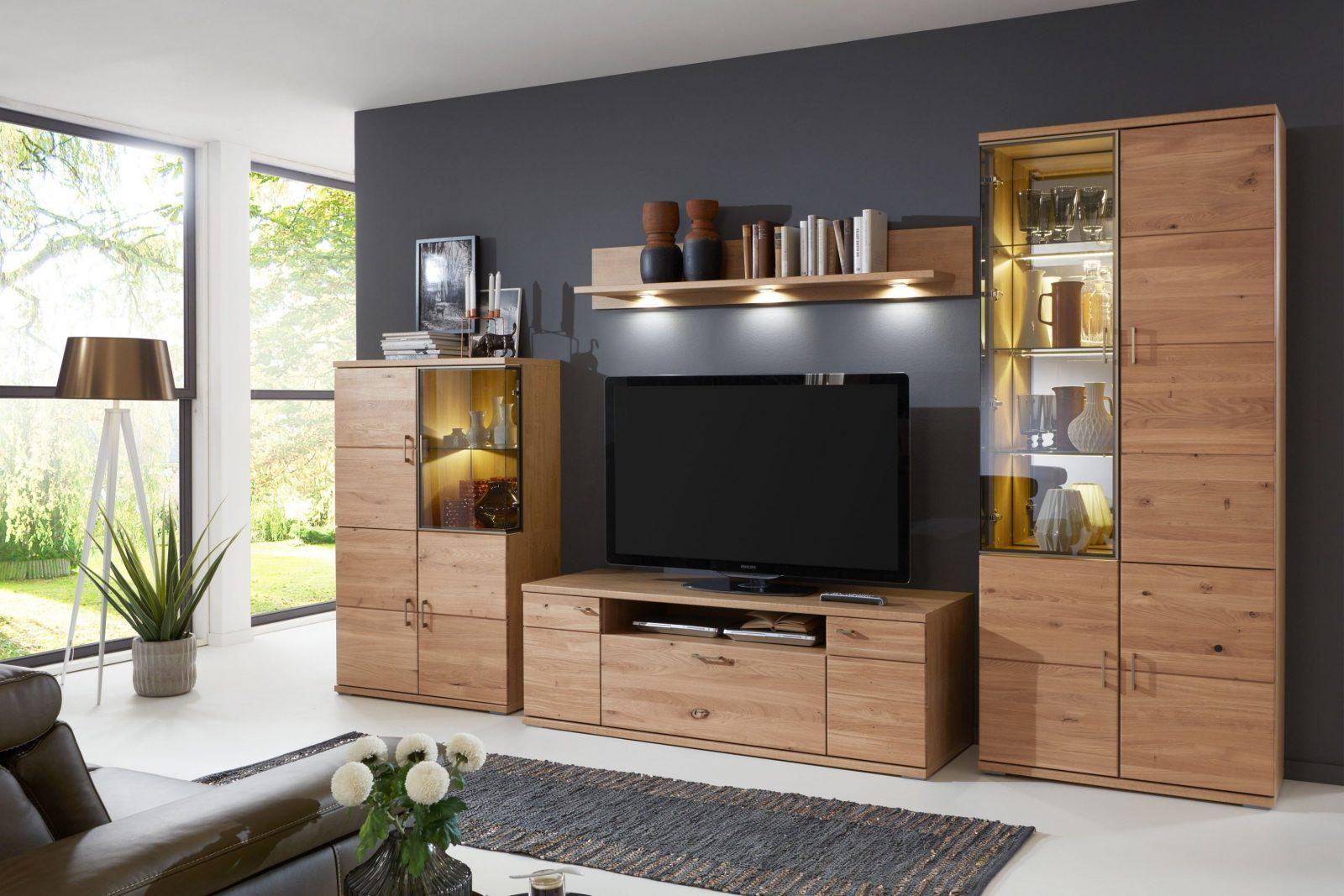 Ideal Möbel Wohnwand Brilon 100 Teilmassive Alteiche  Möbel Letz von Wohnwand Unter 100 Euro Bild