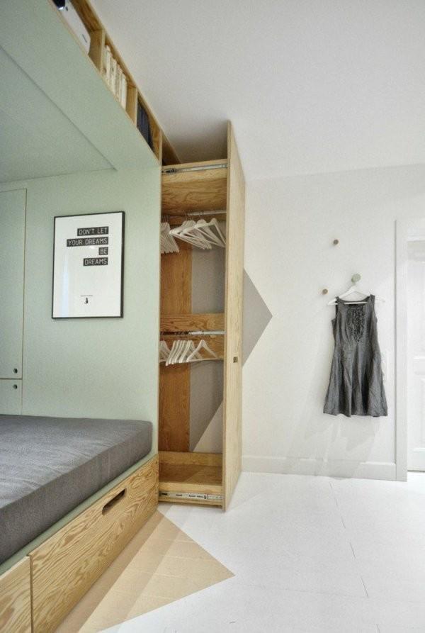 Idee Für Die Einrichtung Ein Platzsparender Ausziehbarer von Platzsparendes Bett Selber Bauen Photo