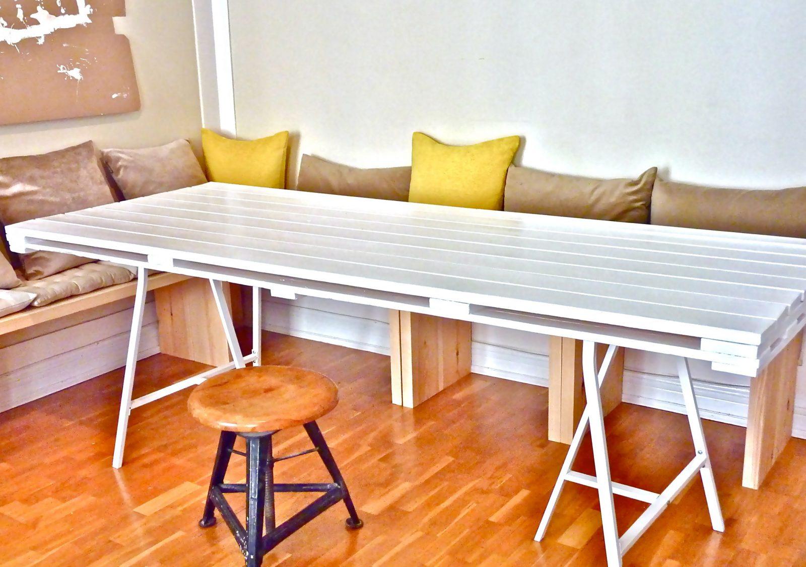 Ideen Für Esstisch Aus Europaletten  Möbel Aus Paletten  Freshouse von Esstisch Aus Paletten Selber Bauen Anleitung Bild