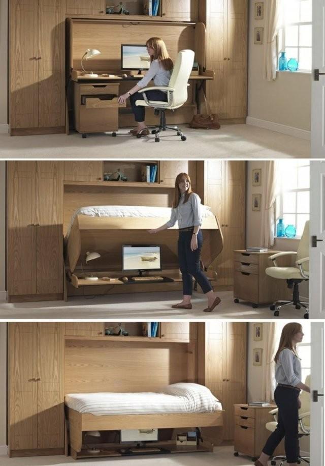 Ideen Mit Bett Und Schreibtisch Als Platzsparende Einrichtung von Platzsparendes Bett Selber Bauen Photo