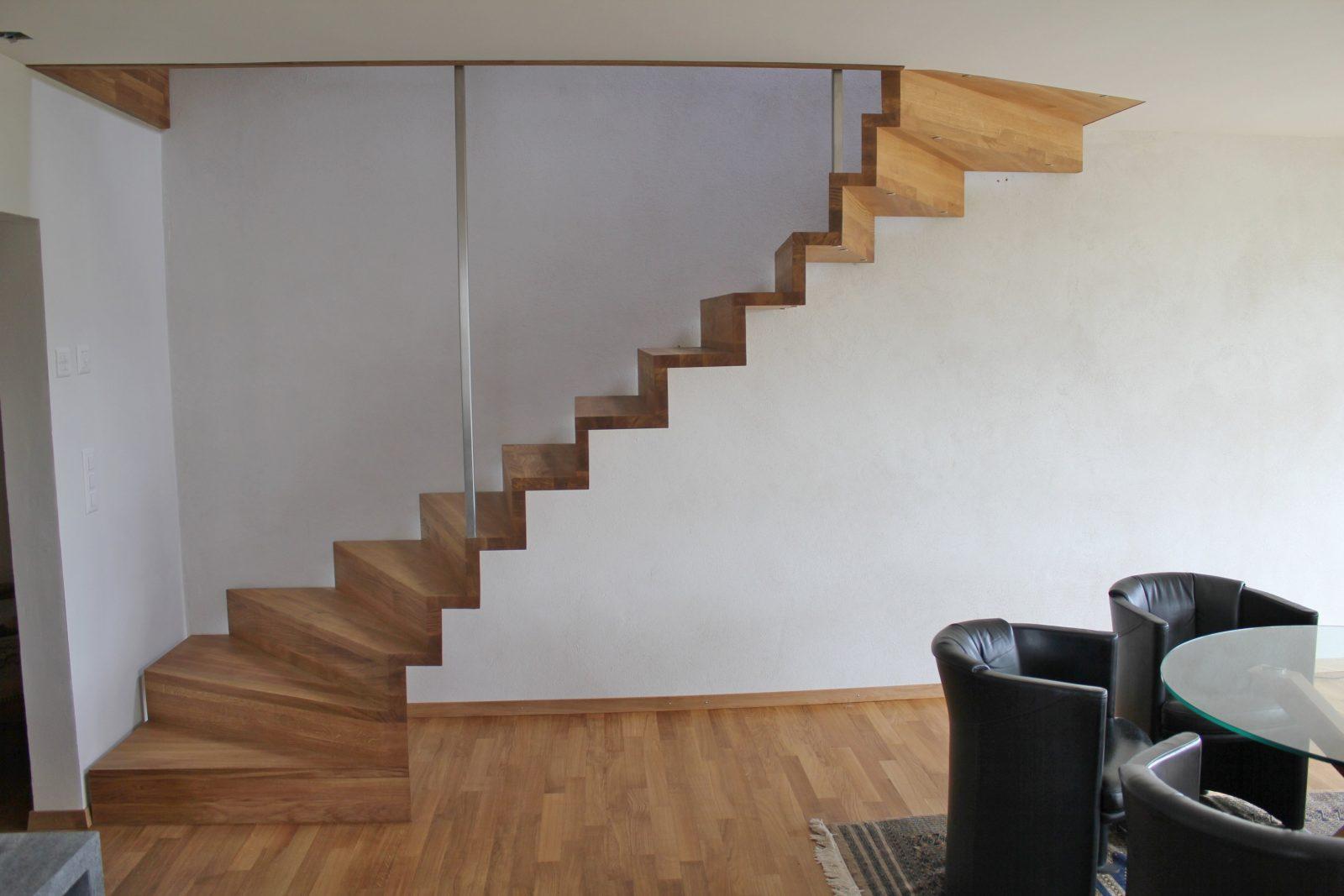 Ihre Holztreppe Nach Mass  Pm Mangold Holzbau von Freitragende Treppe Selber Bauen Bild