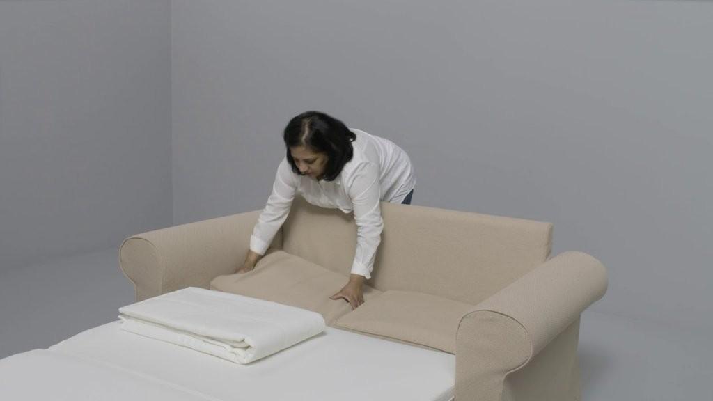 Ikea  Backabro Anleitung Vom 2Er Sofa Zum Bett  Youtube von Schlafsofa Mit Bettkasten Ikea Photo
