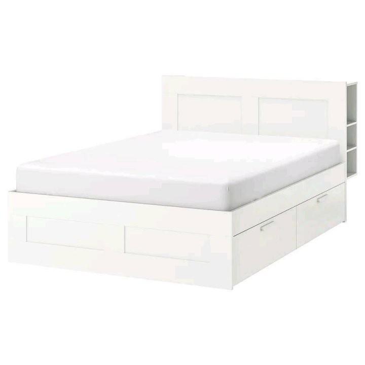Ikea Brimnes Bett 140X200 Schubladen Kopfteil Weiss Modern Top In von Ikea Bett Weiß 140X200 Photo