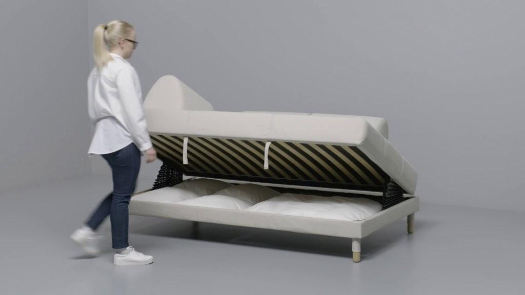Ikea  Flottebo 120 Anleitung Vom Sofa Zum Bett  Youtube von Schlafsofa Mit Bettkasten Ikea Bild