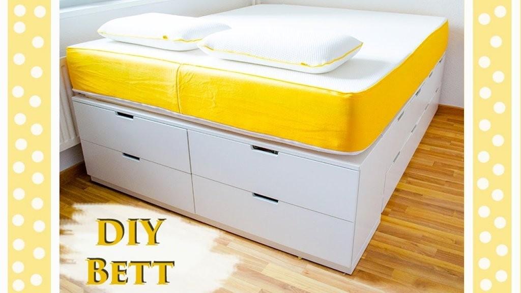 Ikea Hack  Bett Bauen  Einfaches Diy Tutorial Für Ein Plattform von Plattform Bett Selber Bauen Bild