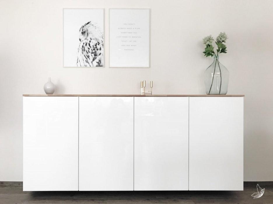 Ikea Hack  Metod Küchenschrank Als Sideboard ⋆ Elfenweiss von Schmales Sideboard Für Flur Bild