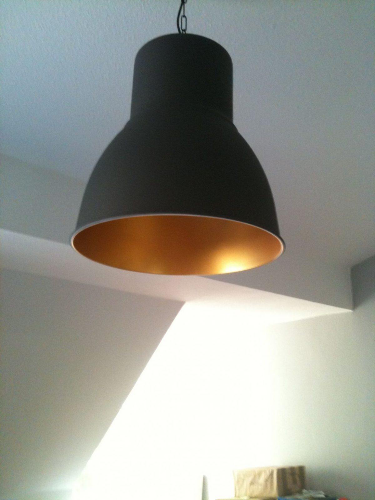 Ikea Hektar Pendant Interior Painted Gold  Interior Design In von Ikea Lampe Schwarz Kupfer Bild