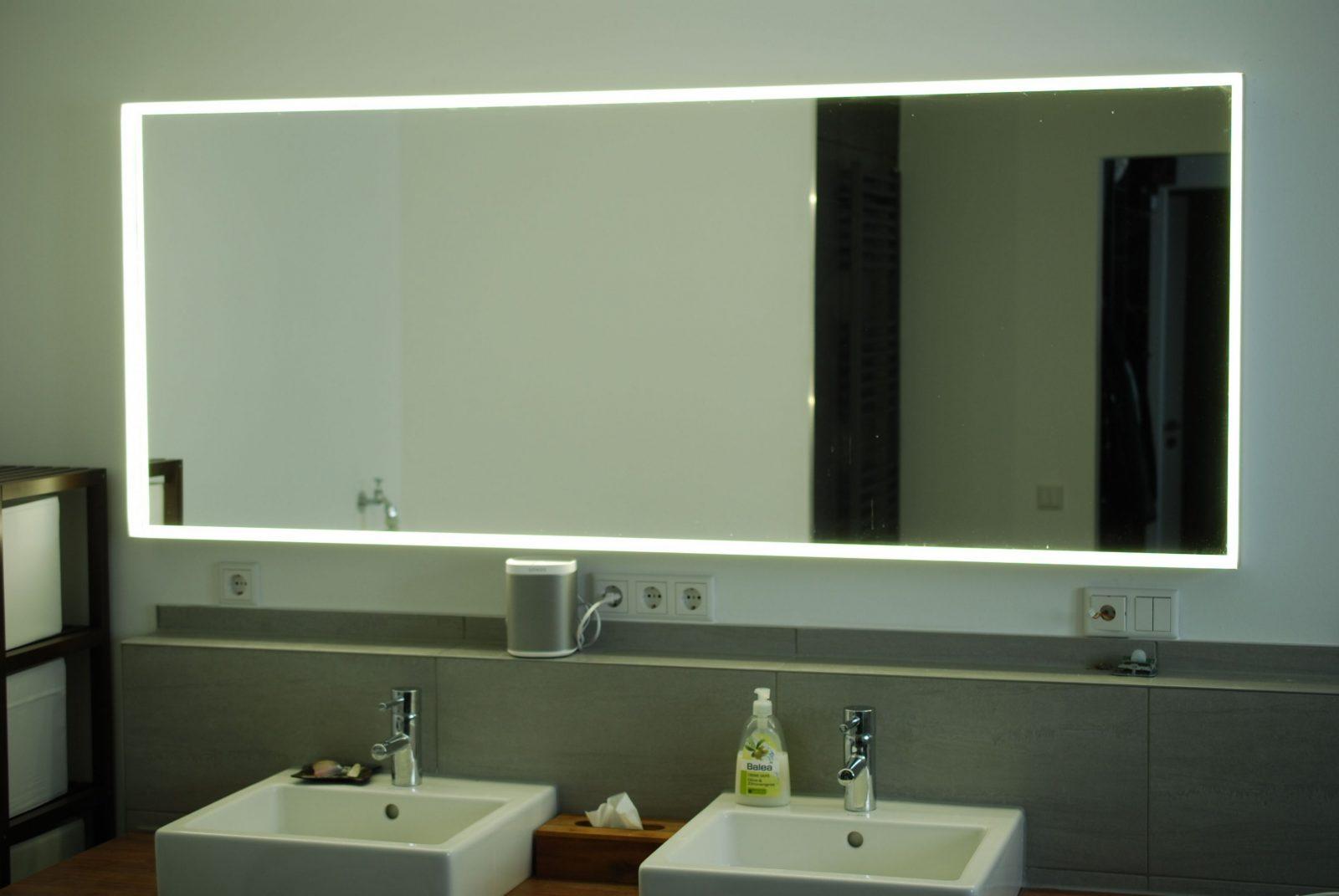 Ikeahack Ikea Spiegel Mit Eigener Led Stripe Installation Ab von Spiegel Mit Beleuchtung Ikea Bild