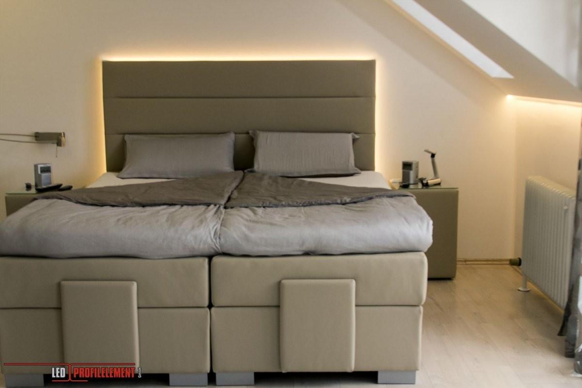 Indirekte Beleuchtung Hinter Dem Bett Wwwledprofilelement von Indirekte Beleuchtung Schlafzimmer Selber Bauen Bild