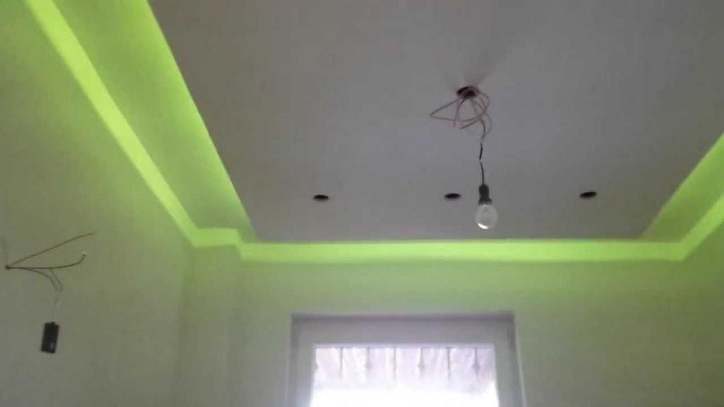 Indirektes Licht Trockenbau Abgehängte Decke Led Bad Ambilight  Youtube von Rigips Decke Indirekte Beleuchtung Bild