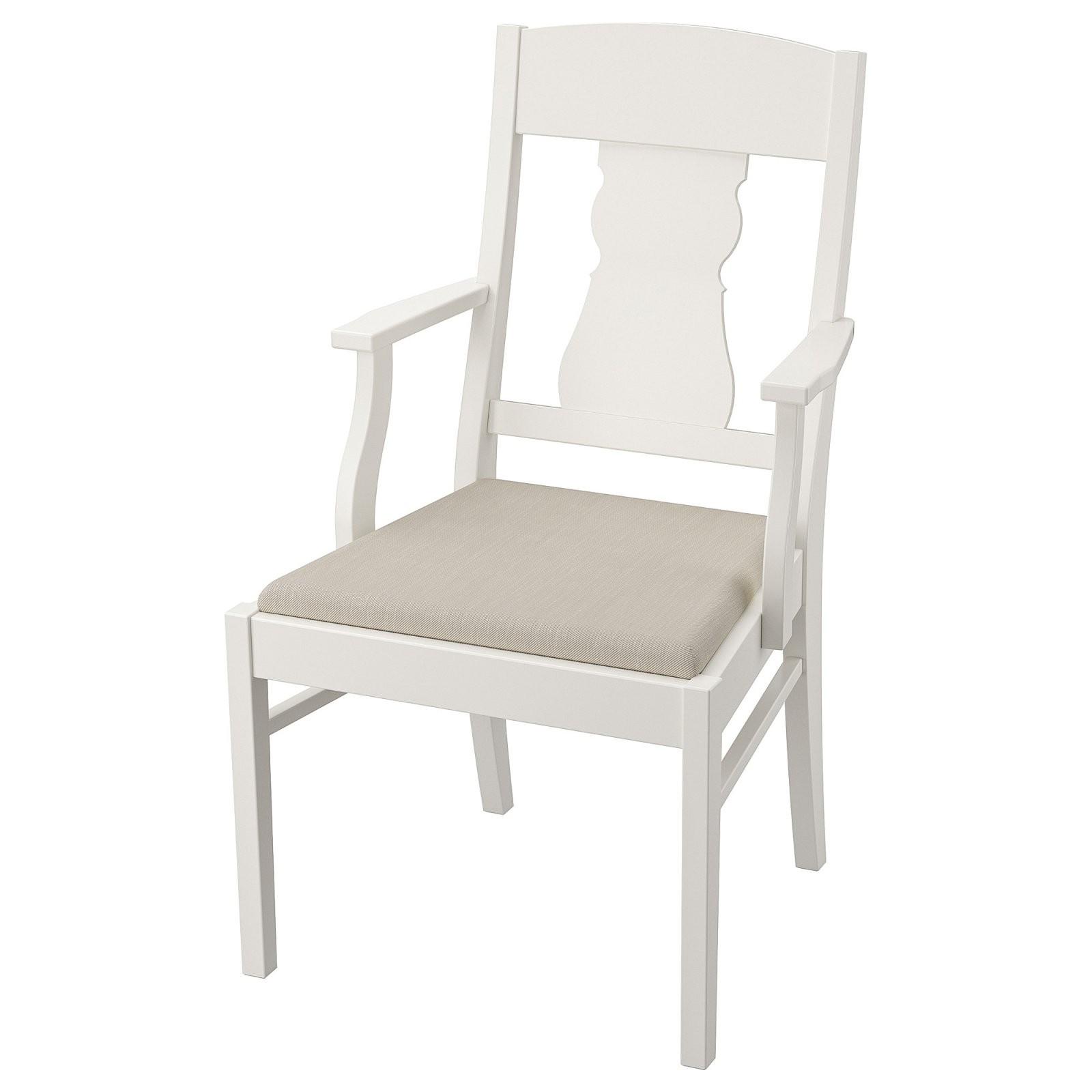 Ingatorp Armlehnstuhl  Weiß Nordvalla Beige  Ikea von Ikea Stühle Mit Armlehne Photo