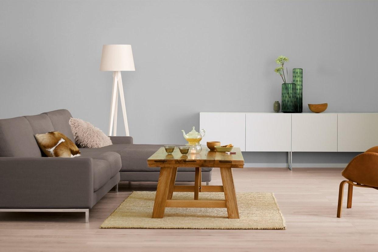 Innenfarbe In Grau Hellgrau Streichen Alpina Farbrezepte von Wohnzimmer Grau Weiß Streichen Bild